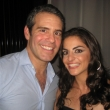 Nadine Rajabi and Andy Cohen